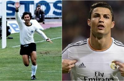 Meglio Cristiano Ronaldo o Gerd Muller? I numeri dicono...