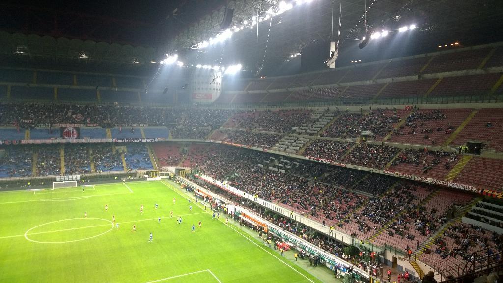 Blackout a San Siro durante Milan-Sampdoria