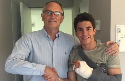 Marc Marquez operato alla mano, ma a Jerez ci sarà