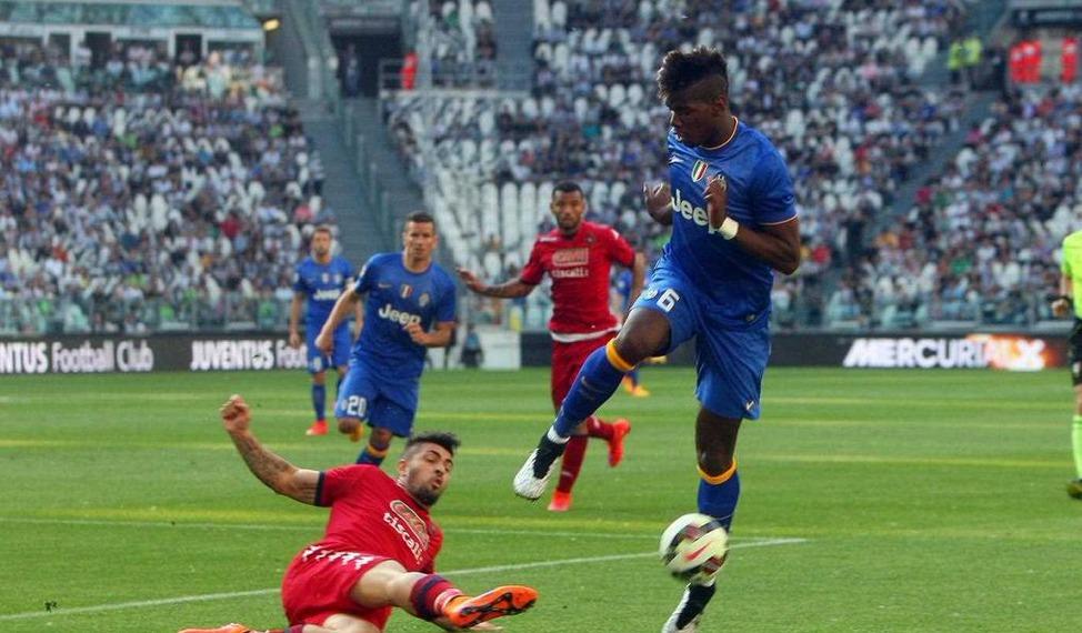 Pogba torna e fa gol. Il francese in rete col Cagliari