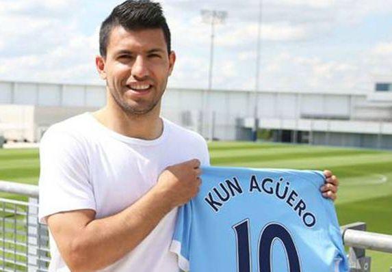 Seconda Maglia Manchester City Sergio Agüero