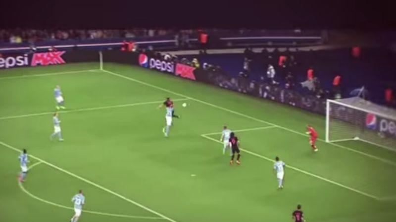 """La magia di tacco di Ibrahimovic contro il """"suo"""" Malmoe"""