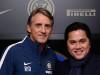 Roberto Mancini ed il presidente dell'Inter Erick Thohir