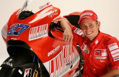 Casey Stoner con la Ducati