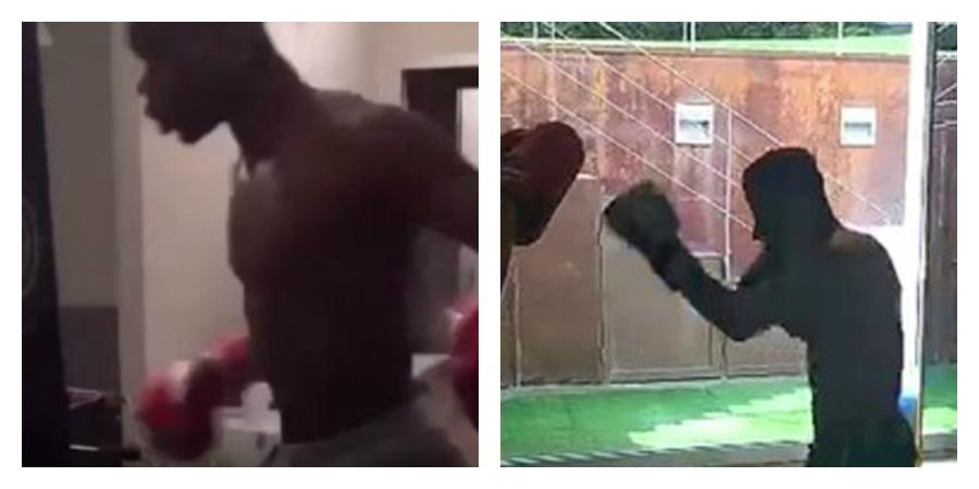 Neymar copia pogba e si allena coi guantoni - Allenamento kick boxing a casa ...