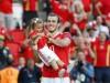 Gareth Bale e la figlia in campo