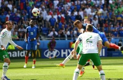 Il gol del pareggio della Francia realizzato da Griezmann