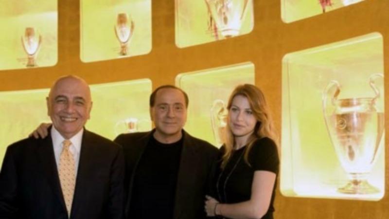 La triade del Milan Galliani Silvio e Barbara Berlusconi