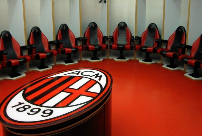 Lo spogliatoio del Milan