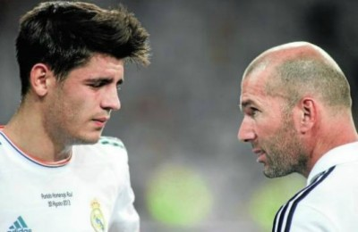 Morata e Zidane