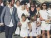 Buffon e Ilaria d'Amico al battesimo del piccolo Leopoldo Mattia