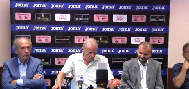 """Palermo, Zamparini rimprovera De Zerbi: """"Perchè quei cambi in difesa?"""""""