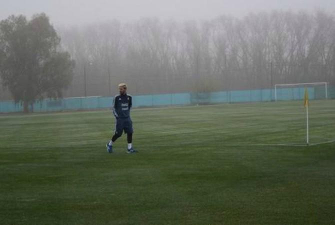 Messi arrivato nel ritiro dell'Argentina