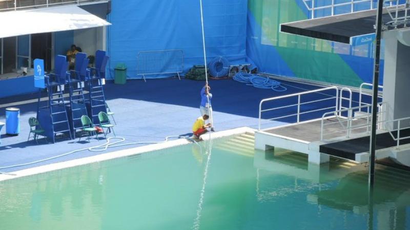 Rio 2016 l 39 acqua della piscina sar sostituita per for Colore per piscine