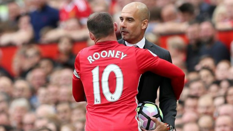 Guardiola litiga con Rooney
