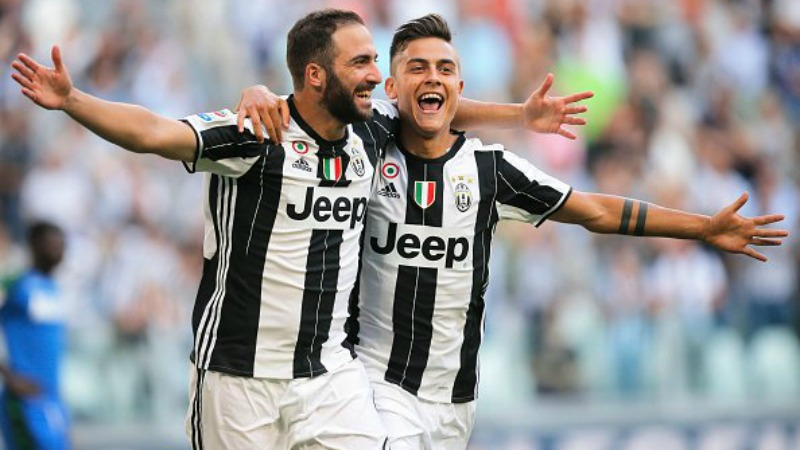 Higuain e Dybala Juventus