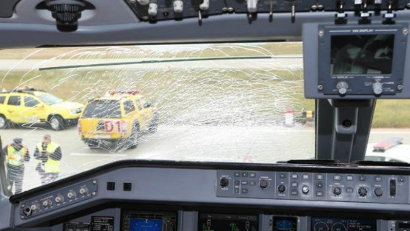 I vetri dell'aereo del fenerbahce