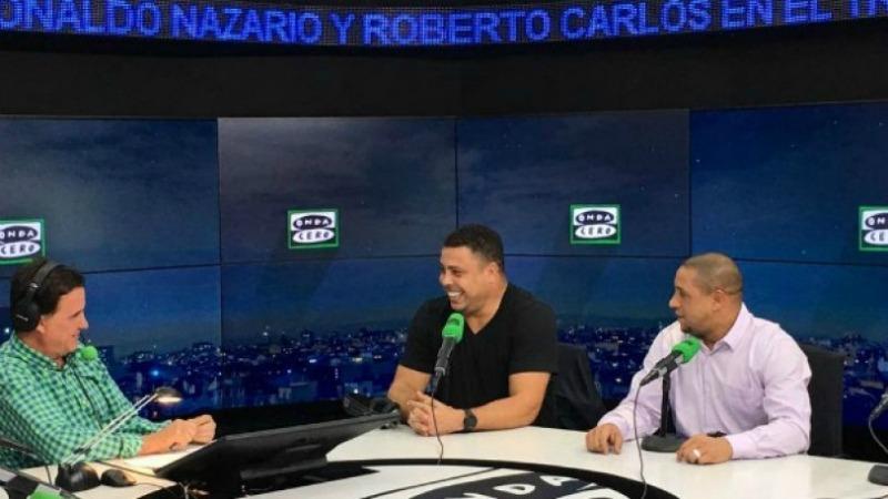 Ronaldo e Roberto Carlos intervistati in radio