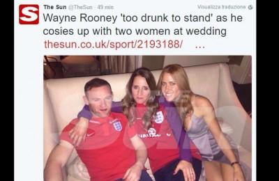 Wayne Rooney, il matrimonio in crisi: beccato con una donna in giro per i bar