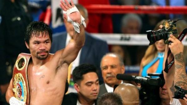 Boxe, Pacquiao torna grande a 38 anni conquistando la corona del welter Wbo
