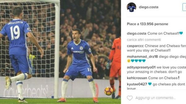Diego Costa vuole fare la pace: cuoricino a Conte e al Chelsea dopo la lite