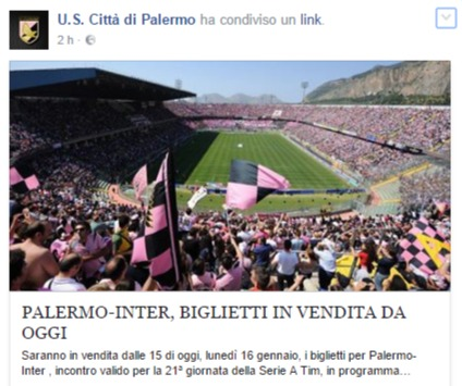 """Il Palermo apre la prevendita per l'Inter, ma i tifosi: """"Nessuno allo stadio"""""""