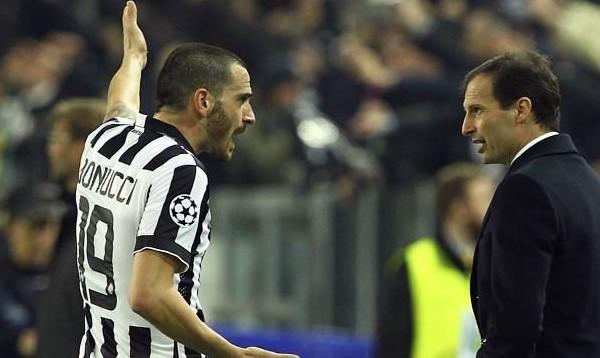 Bonucci addio alla Juve per lo scontro con Allegri: lo aspettano Guardiola o Conte