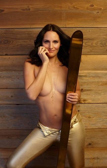 Skifahrerin Nackt