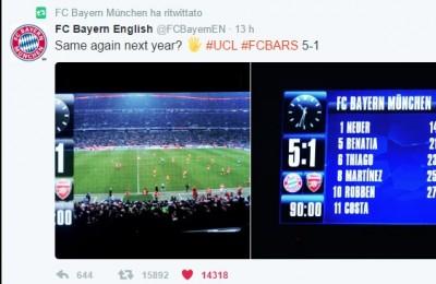 """Arsenal, tifosi contro Wenger e il Bayern sfotte: """"L'anno prossimo di nuovo"""""""