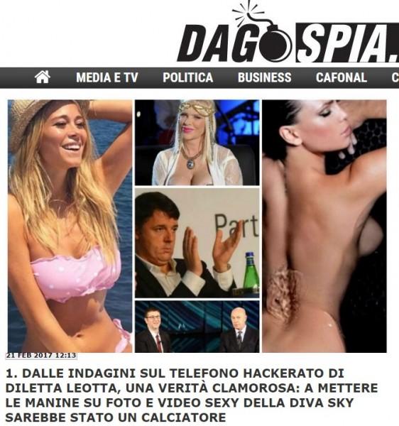 L'articolo di Dagospia sulle foto hackerate a Diletta Leotta