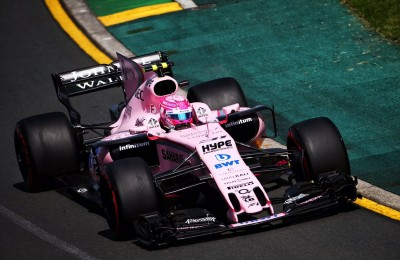 Ecco la Force India rosanero in pista ma i tempi non sono granché