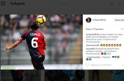 Diego Lopez allenatore del Palermo che esalta il Cagliari