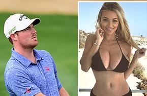 La coniglietta di Playboy Lindsey Pelas sexy caddie del golfista Grayson Murray