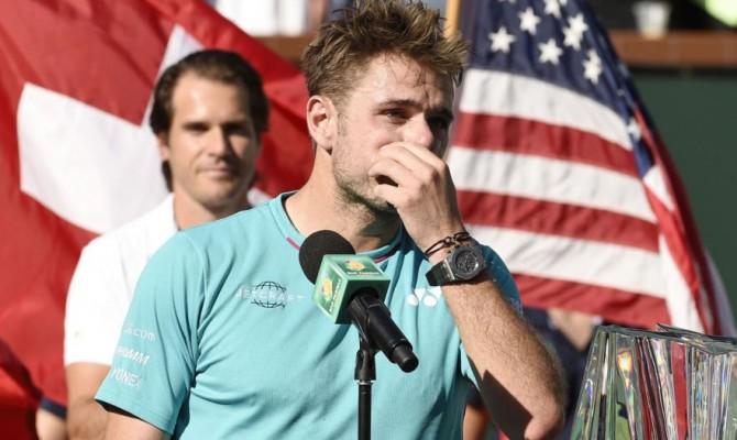"Wawrinka perde a Indian Wells, piange a dirotto e si sfoga con Federer: ""Sei uno stronzo"""