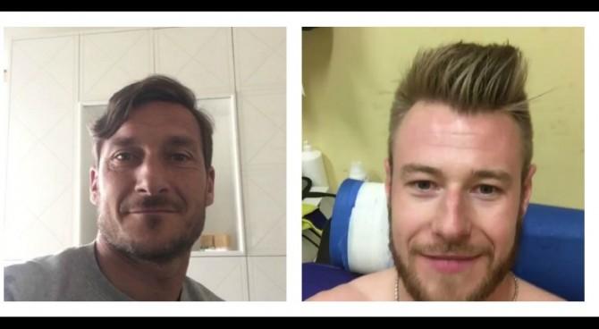 """Zaytsev sfida Totti a Beach volley. Il Pupone: """"Ma portiamo le mogli"""""""