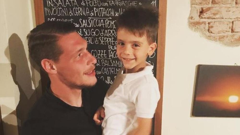 """Bonucci jr. incontra Belotti: """"Stasera sì che mi sono divertito"""""""