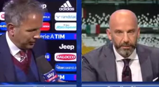 Derby: lite tra Mihajlovic e Vialli in tv