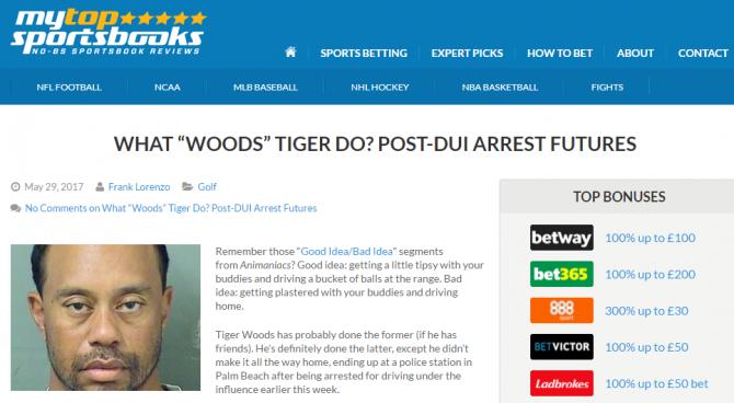 Woods arrestato, la polizia diffonde il video: Incapace di rispondere