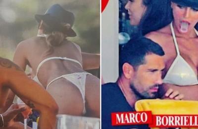 Marco Borriello a Ibiza con Cristina Buccino, ex (presunta) di Cristiano Ronaldo