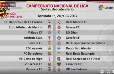 Il 20 agosto il via alla Liga. Real Madrid a La Coruña, Barcellona con il Betis. Il Clasico a Natale