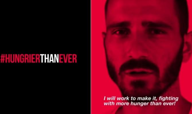 """Milan, Bonucci maglia numero 19 e pure #hungrierthanever: """"Saro più affamato che mai"""""""