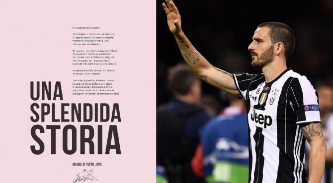 Bonucci compra una pagina della Gazzetta e saluta il mondo Juventus (ma non Allegri)
