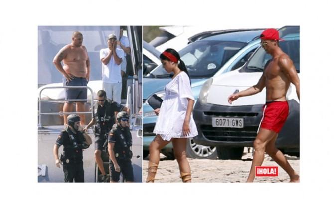 Cristiano Ronaldo, polizia sullo yacht