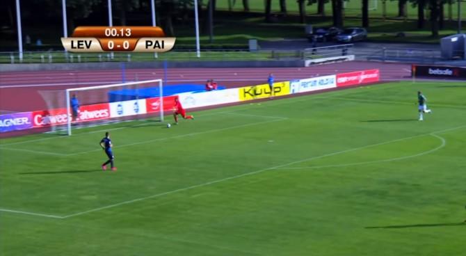 Coppa d'Estonia, il Levadia passa in vantaggio senza mai toccare palla