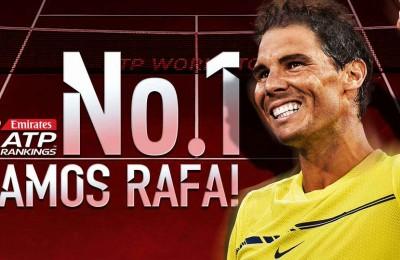 Rafa Nadal torna numero uno al mondo del tennis dopo tre anni e tanti infortuni
