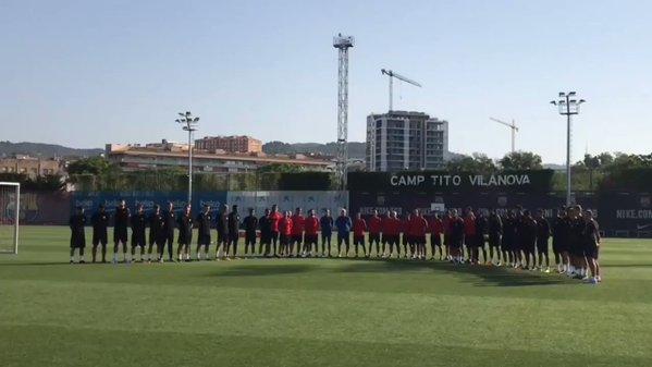 Minuto di silenzio Barcellona