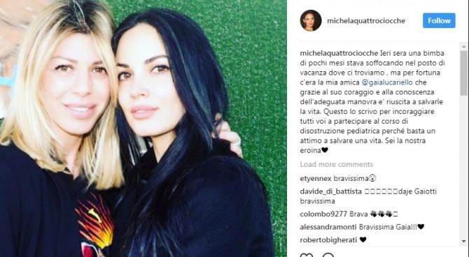 Gaia Lucariello, la moglie di Inzaghi salva una bimba dal soffocamento