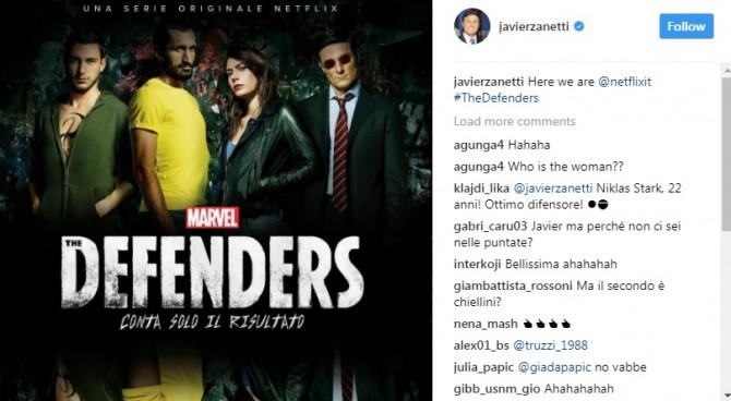 """Netflix promuove """"The Defenders"""", nello spot Darmian, Zanetti e Chiellini"""