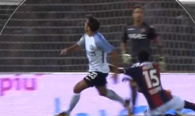 """Bologna-Inter, a Verdi risponde Icardi su dubbio rigore. Donadoni: """"Derubati"""""""