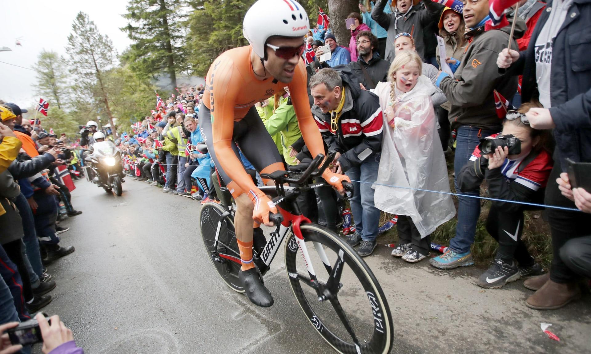 Bergen, Tom Dumoulin domina la cronometro ed è campione del Mondo